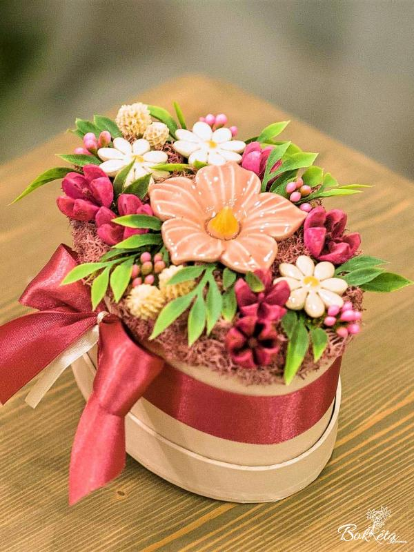 Keramikblume: Mini Flower Box - Pink Mallow