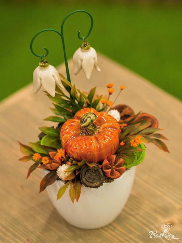 Keramikblume: Mini Centerpiece - Pumpkin