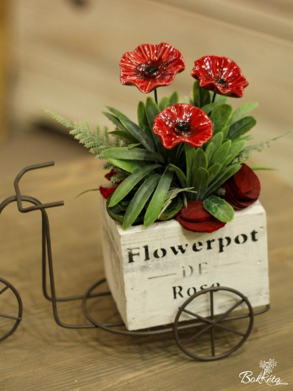 Ceramic flower: Special Centerpiece - Little Poppy