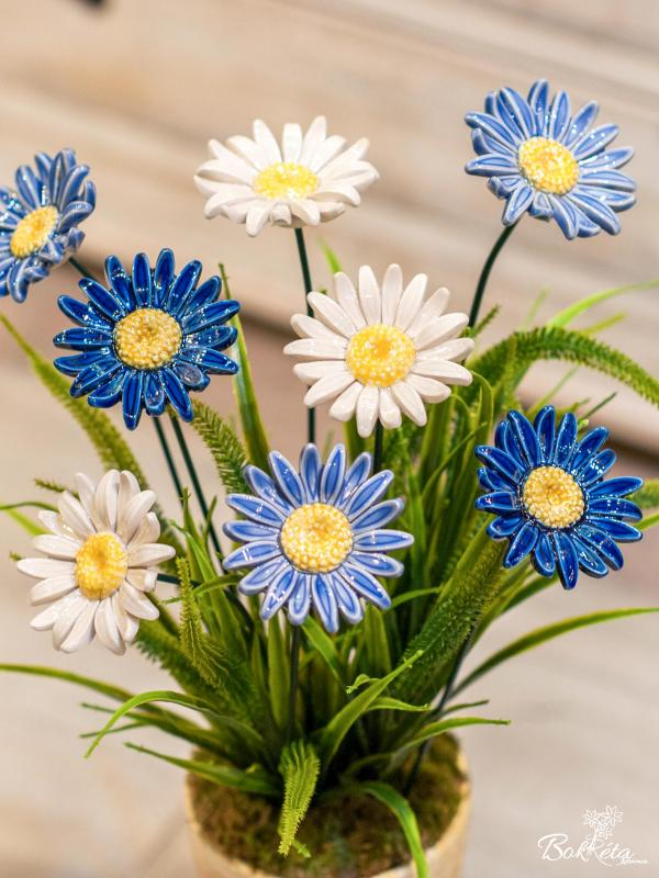 Ceramic flower: Giant Meadow Daisy