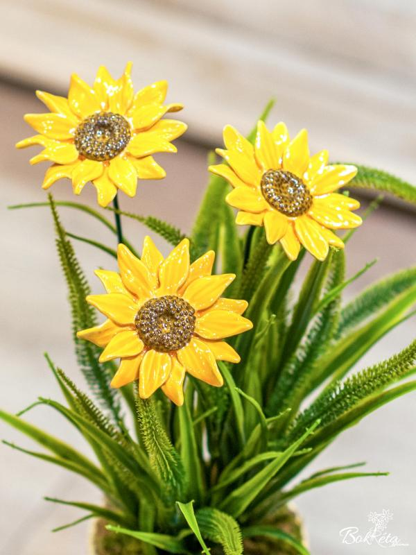 Ceramic flower: Giant Sunflower