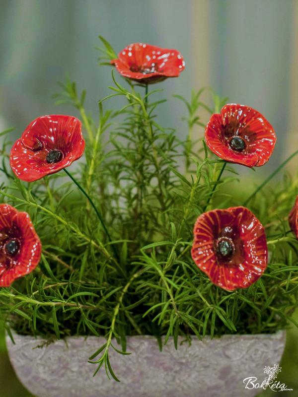Ceramic flower: Poppy