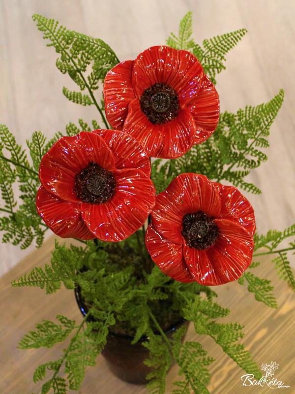 Ceramic flower: Giant Poppy