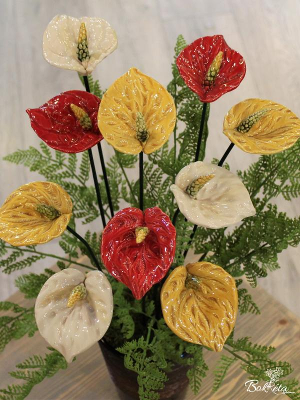 Ceramic flower: Giant Flamingo Flower