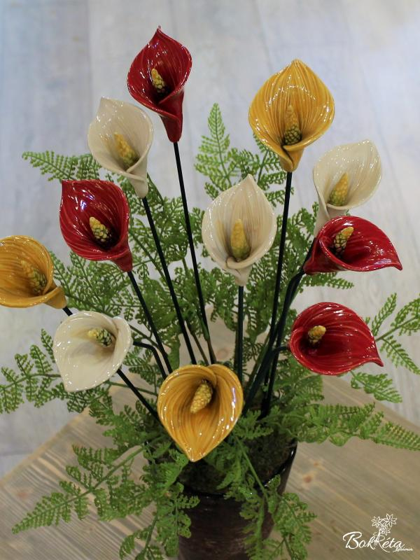 Ceramic flower: Giant Calla