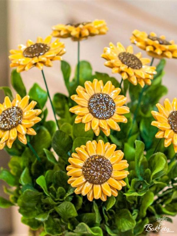 Ceramic flower: Sunflower