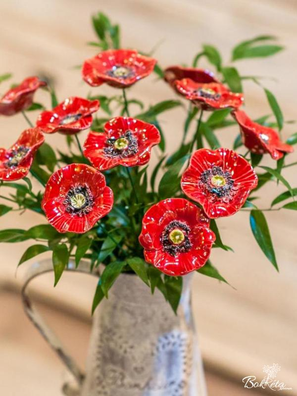 Ceramic flower: Decor Poppy