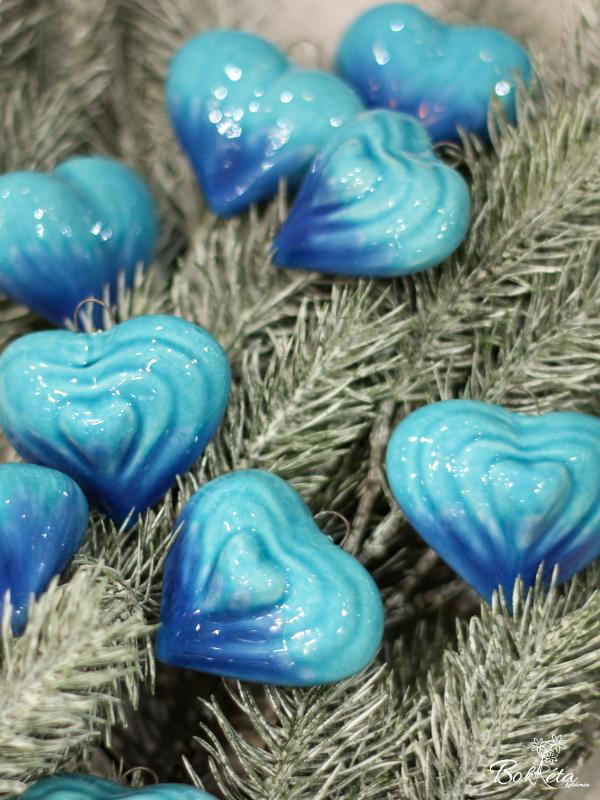 Ceramic flower: Big Heart - Turquoise selection