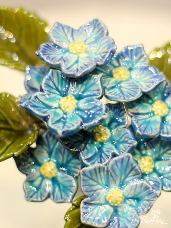 Ceramic flower: Fairy Flower - Turquoise selection
