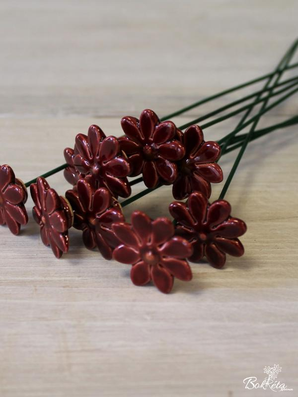 Ceramic flower: Mini Daisy Sale Claret -50%