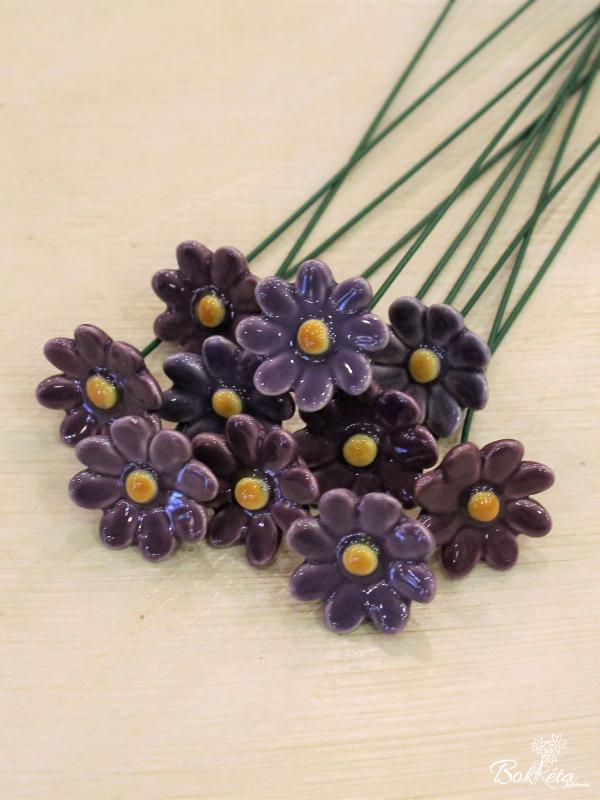 Ceramic flower: Little Daisy Sale Purple -50%