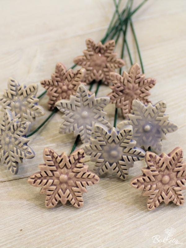 Ceramic flower: Little Snowflake Special Offer 5pcs