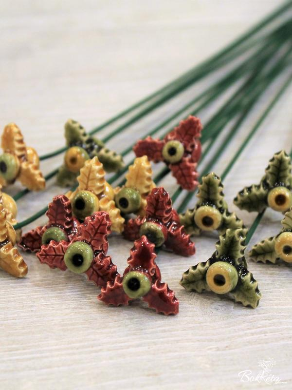Ceramic flower: Mini Holly Special Offer 5pcs