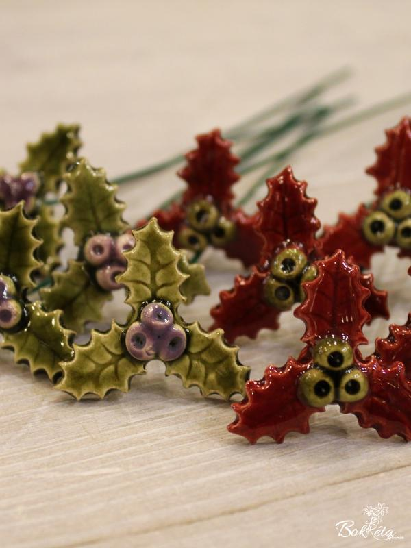 Ceramic flower: Little Holly Special Offer 5pcs