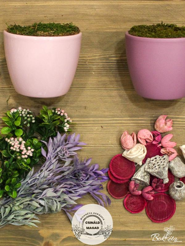 Ceramic flower: DO IT YOURSELF - Large Centerpiece - pink, purple