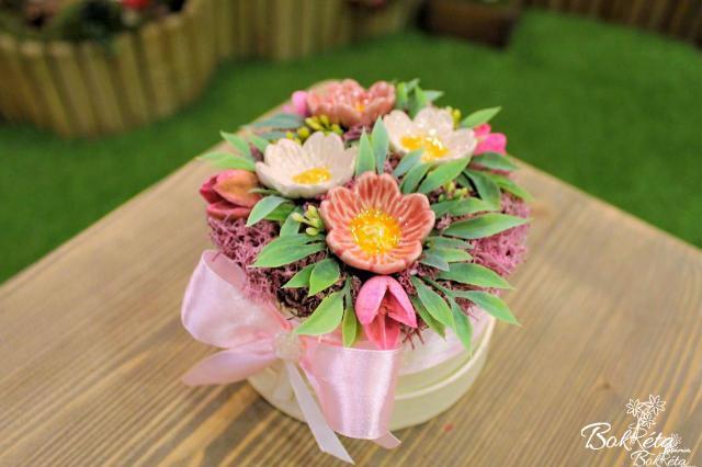 Ceramic flower: Mini Flower Box - Wild Rose