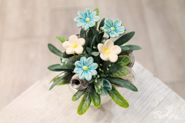 Ceramic flower: Mini Centerpiece - Mini Flowers