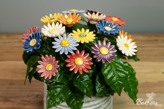 Kerámia virág: Réti Margaréta
