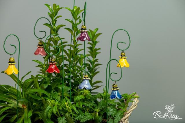Kerámia virág: Kicsi Harangvirág