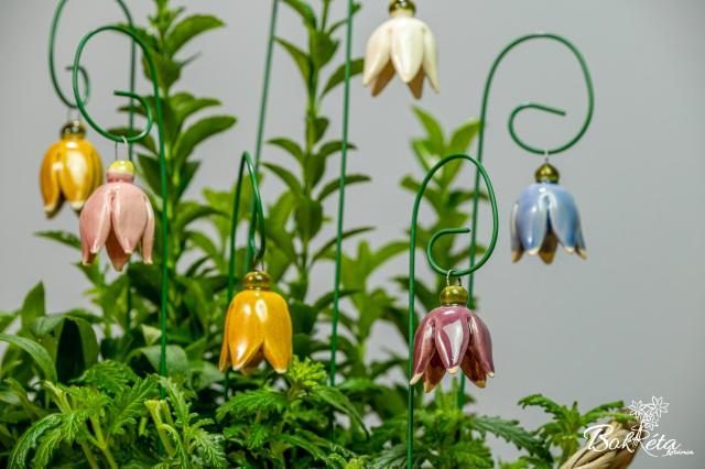 Kerámia virág: Hanga