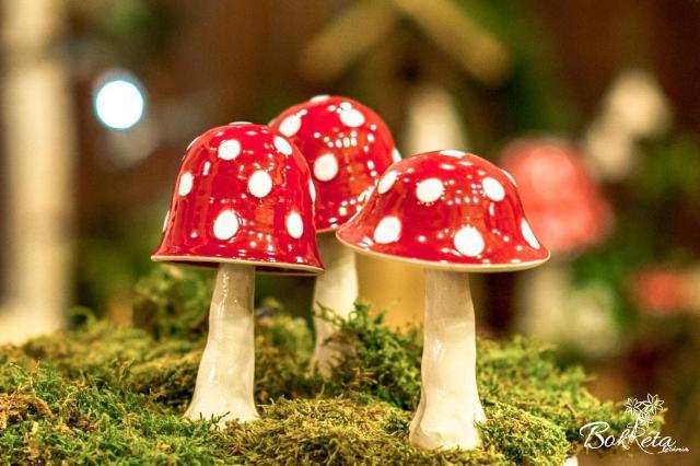 Ceramic flower: Mushroom