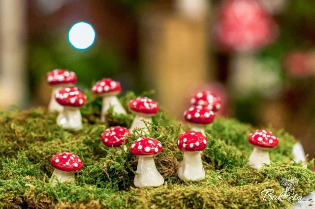Ceramic flower: Little Mushroom