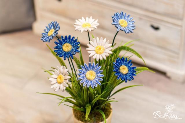 Kerámia virág: Óriás Margaréta