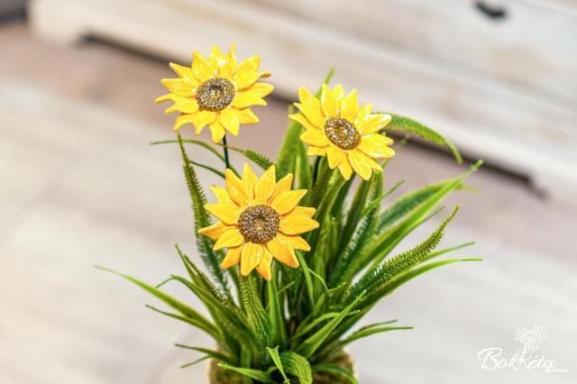 Kerámia virág: Óriás Napraforgó