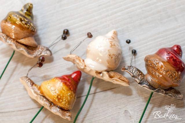 Ceramic flower: Little Snail