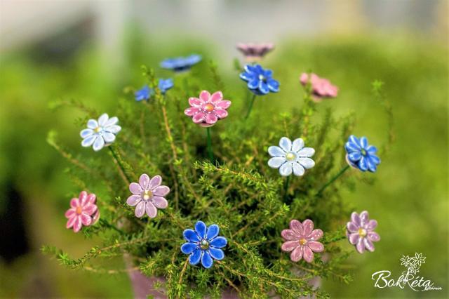 Kerámia virág: Mini Margaréta