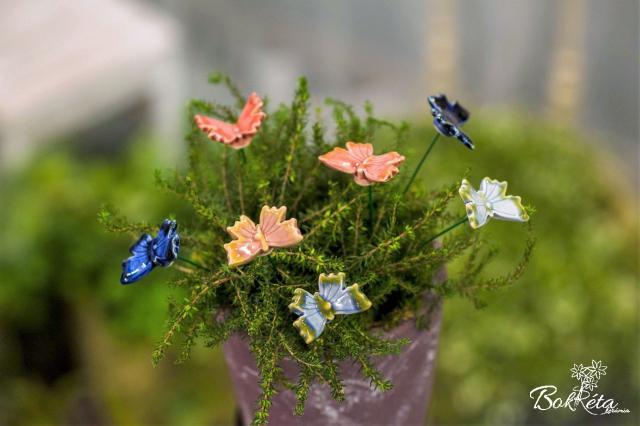 Ceramic flower: Butterfly