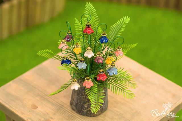 Ceramic flower: Little Bellflower