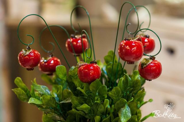 Kerámia virág: Kicsi Alma