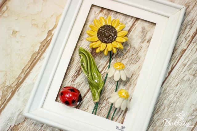 Ceramic flower: Little Picture - Sunflower