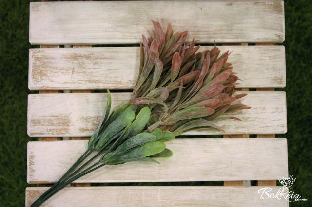 Ceramic flower: Green Leaf #10