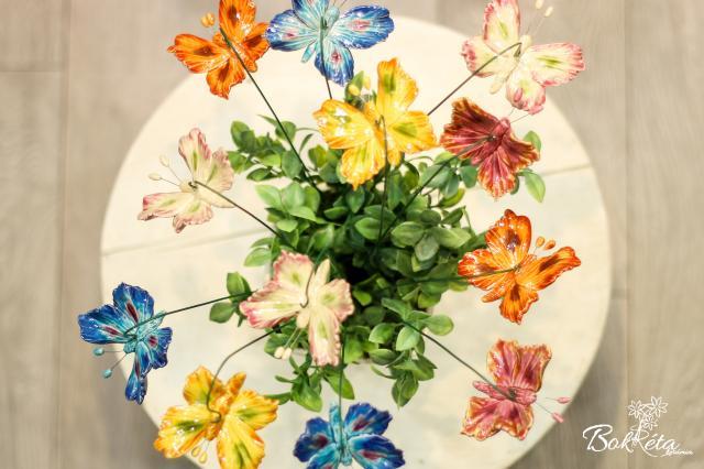 Kerámia virág: Nagy Pillangó