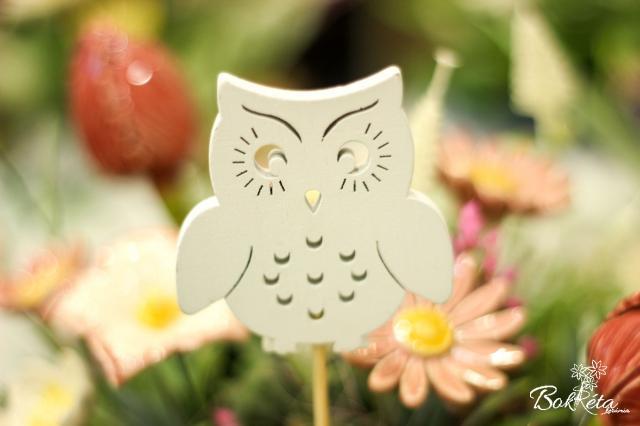 Ceramic flower: Education table - Owl 1