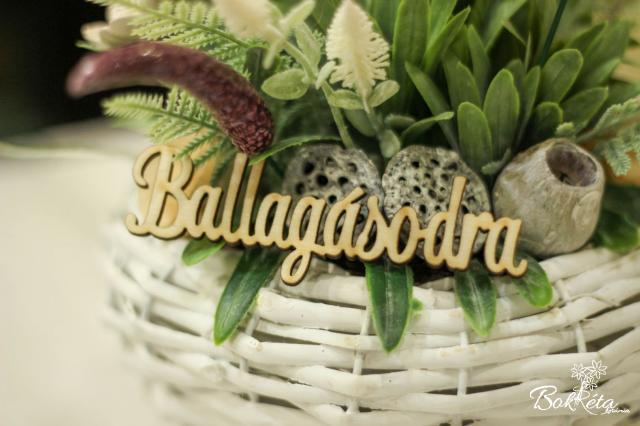 Ceramic flower: Ballagásio tábla - Nagy szöveg
