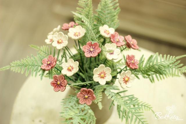 Ceramic flower: African Violet