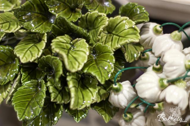 Ceramic flower: Rose leaf