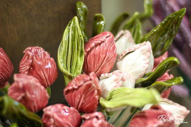 Kerámia virág: Tulipán levél