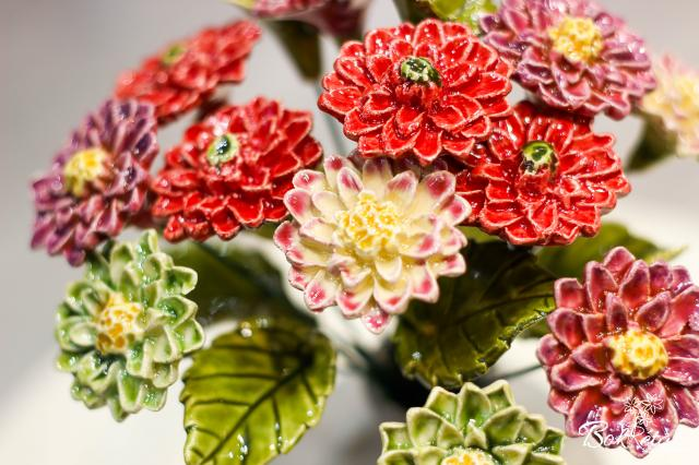 Kerámia virág: Dália