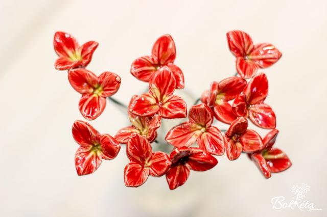 Ceramic flower: Mini Freesia
