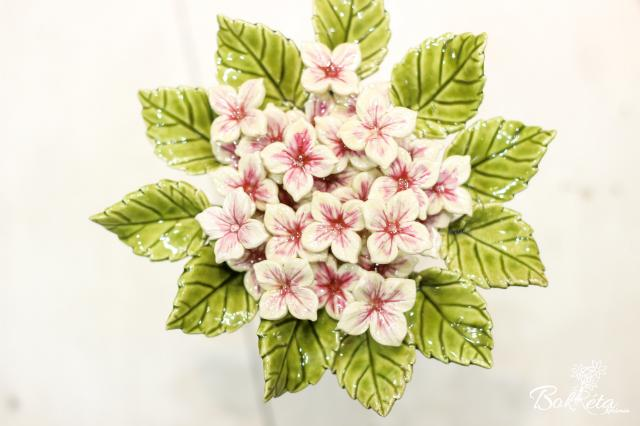 Ceramic flower: Mini Hortensia