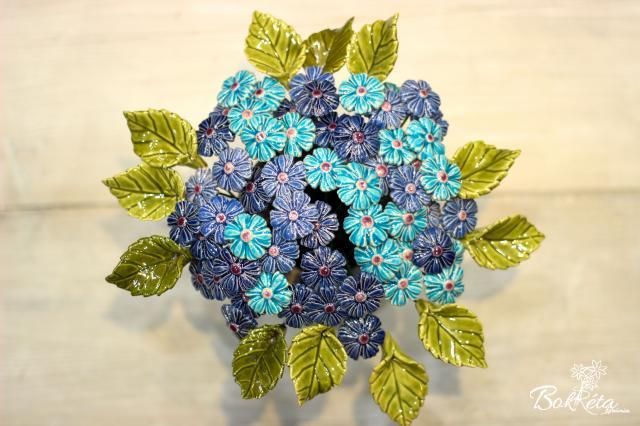 Ceramic flower: Mini cornflower