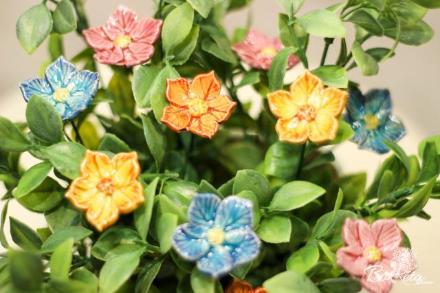 Ceramic flower: Fairy-flower