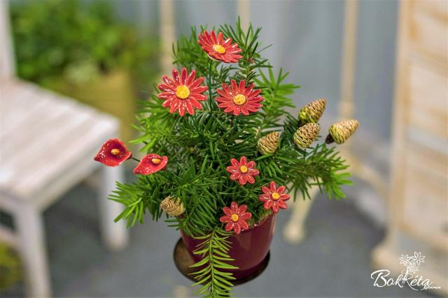 Ceramic flower: Bouquet Designer - Christmas Mood