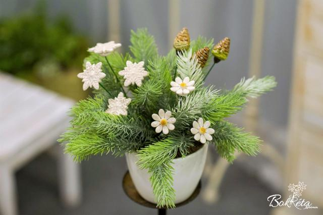 Ceramic flower: Bouquet Designer - Winter Magic
