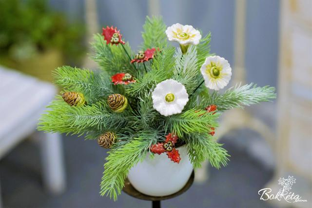 Ceramic flower: Bouquet Designer - Warmth of Winter