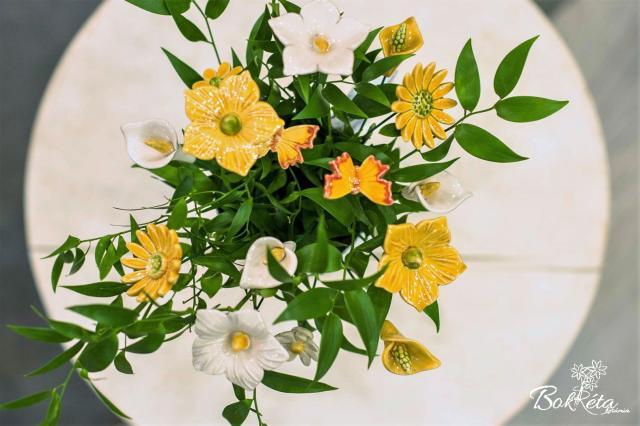 Kerámia virág: Csokortervező - Nyári Hajnal
